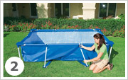 Intex Metal Frame Pool opzetten stap 2