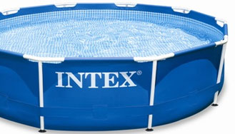 Ronde metal frame pool