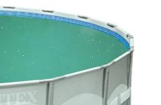 Troebel water met kalkdeeltjes