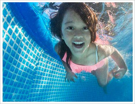 intex oval frame pool fun