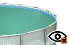 Troebel water / Chloorlucht / Irriterend aan ogen en slijmvliezen
