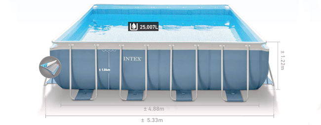 Formaten Intex prism frame pool 488