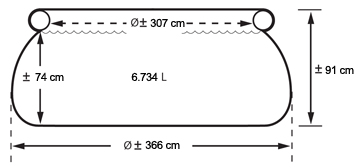 Intex easy set formaten - 366 x 91cm