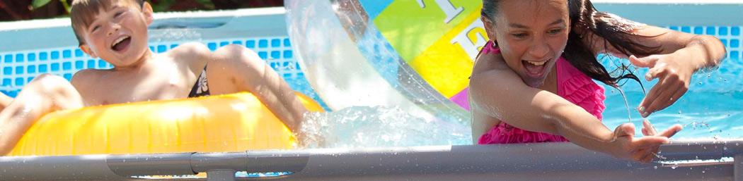 Opzetzwembad Intex - de beste bovengrondse zwembaden