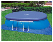 ladder oval frame pool