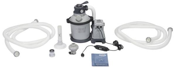 Inhoud verpakking Intex zandfilterpomp 4000 liter/uur