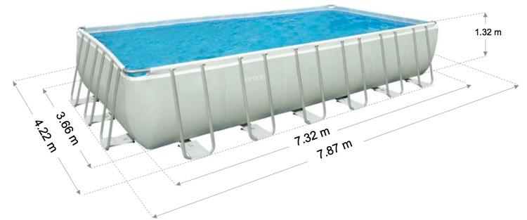 Intex ultra frame pool 732 afmetingen