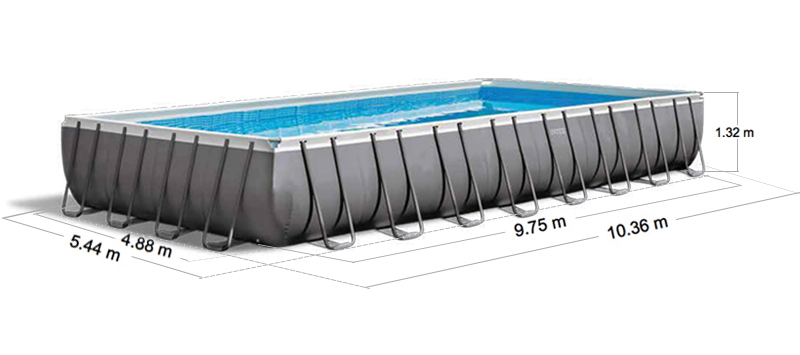 Intex ultra frame pool 975 afmetingen