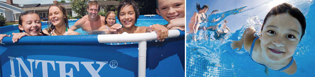 Intex metal frame pool sfeer