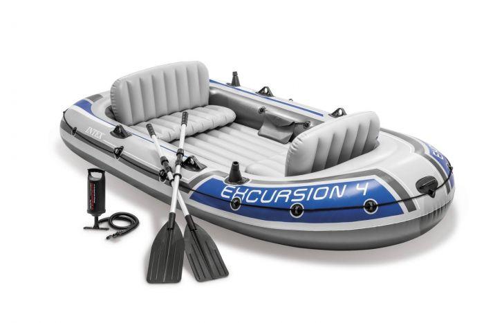 INTEX™-Opblaasboot---Excursion-4-Set