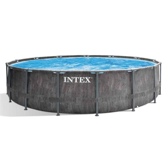 INTEX™-Prism-Frame-Greywood-Premium-Pool---Ø-457-x-122-cm-(set)