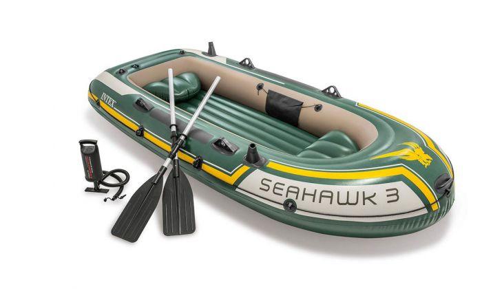 INTEX™-Opblaasboot---Seahawk-3-Set-(incl.-peddels-&-pomp)