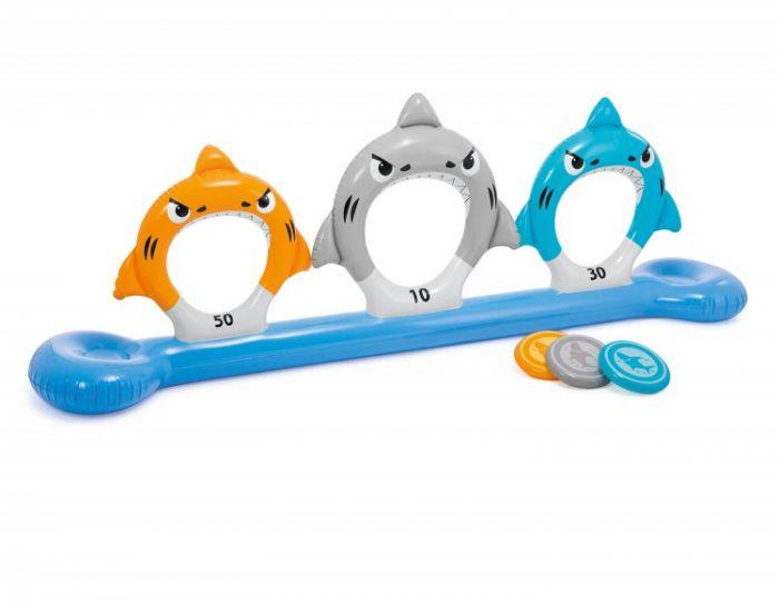 INTEX™-zwembadspel---Feed-the-sharks-disc-toss
