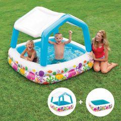 INTEX™-kinderzwembad---Sun-Shade-Pool-met-afneembaar-dak-(157-x-157-cm)