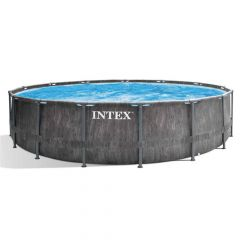 INTEX™-Prism-Frame-Greywood-Premium-Pool---Ø-549-x-122-cm-(set)-