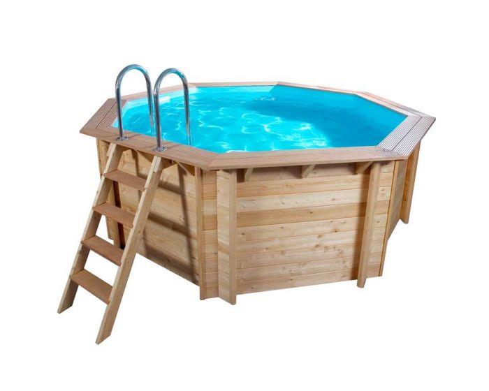 Interline Spruce 440 x 440 | Luxe houten zwembad
