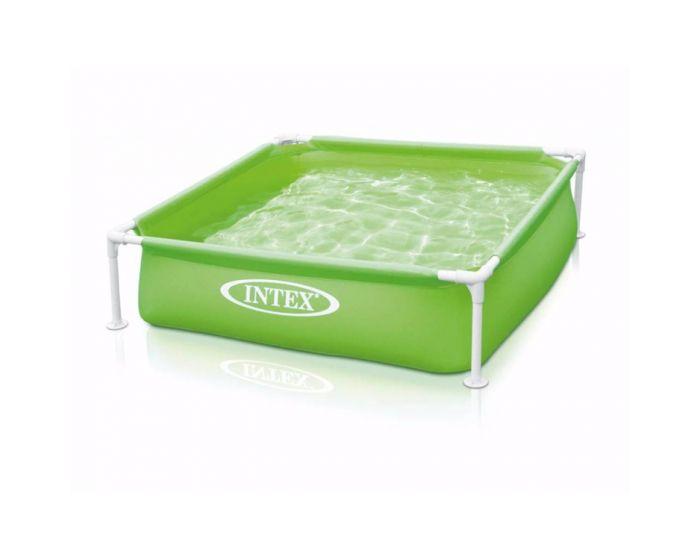 Intex kinderzwembad mini frame pool groen 122 x 122 cm for Groot opzetzwembad