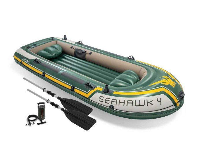 INTEX™Opblaasboot  - Seahawk 4 Set (incl. peddels & pomp)