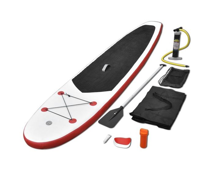 INTEX™ opblaasbare stand up paddle board met accessoires rood