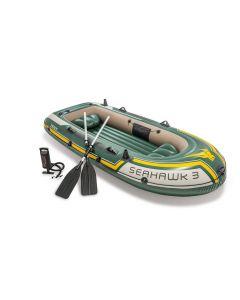 INTEX™ Opblaasboot - Seahawk 3 Set (incl. peddels & pomp)