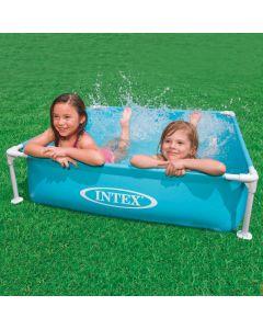 INTEX™ kinderzwembad - Mini Frame Pool - blauw (122 x 122 cm)